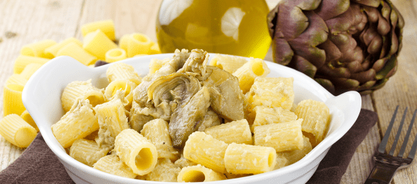 Pasta with Artichoke Hearts