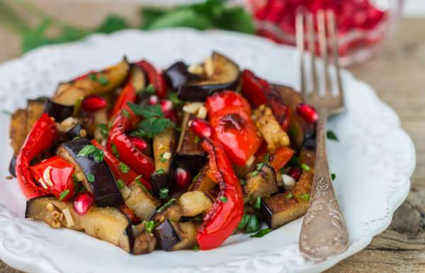 Roasted Eggplant and Red Pepper Antipasto